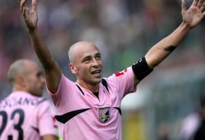 Palermo's midfielder Eugenio Corini jubi