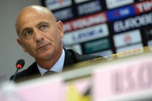 PALERMO, ITALY - JUNE 07:  Giuseppe Sannino is presented as the new coach of US Citta di Palermo at Renzo Barbera Stadium on June 7, 2012 in Palermo, Italy.  (Photo by Tullio M. Puglia/Getty Images)